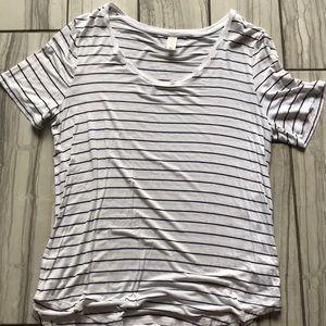 Women's striped short sleeve tee